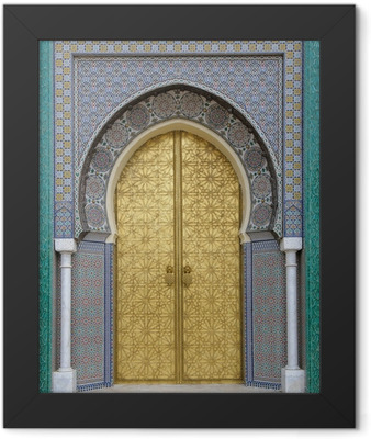 Ancient doors, Morocco Framed Poster
