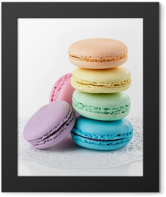 Colorful macaroons Framed Poster