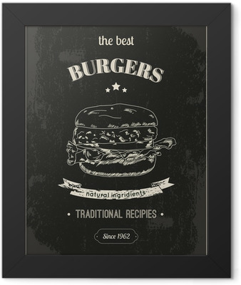 Hamburger poster Framed Poster