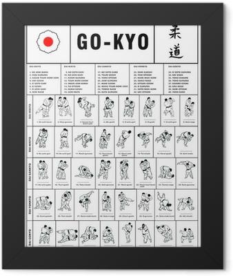 The Traditional Gokyo of Kodokan Judo Framed Poster