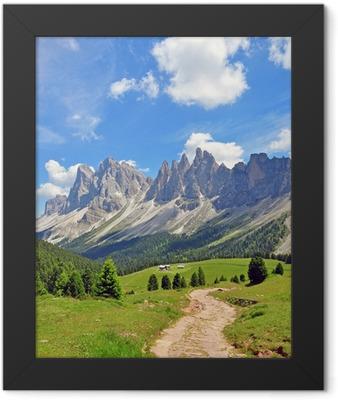 Mountain peaks in Alps Framed Poster