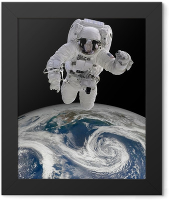 Astronaut in outer space Framed Poster