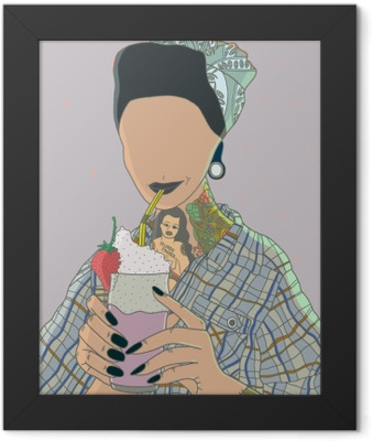 Faceless woman - Ricardo X Parker Framed Poster