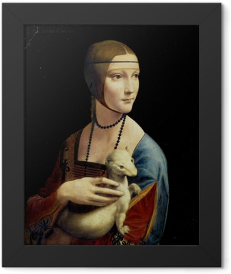 Leonardo da Vinci - Lady with an Ermine Framed Poster