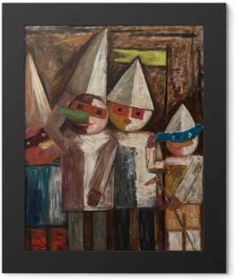 Tadeusz Makowski - Children's Carnival With a Flag Framed Poster
