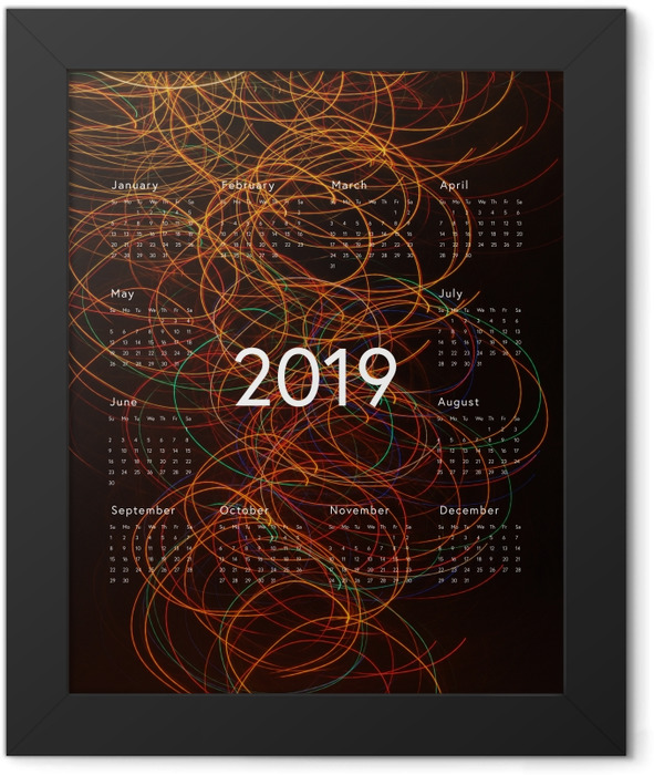 Calendar 2019 - abstraction Framed Poster - Calendars 2019