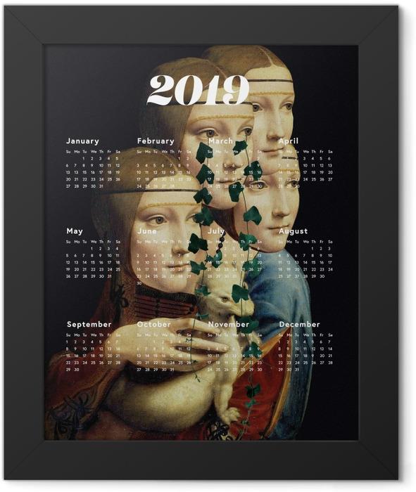 Calendar 2019 - women and art Framed Poster - Calendars 2019