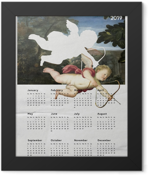 Calendar 2019 - angel Framed Poster - Calendars 2019