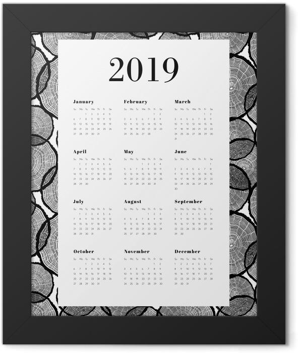 Calendar 2019 - Tree trunks Framed Poster - Calendars 2019
