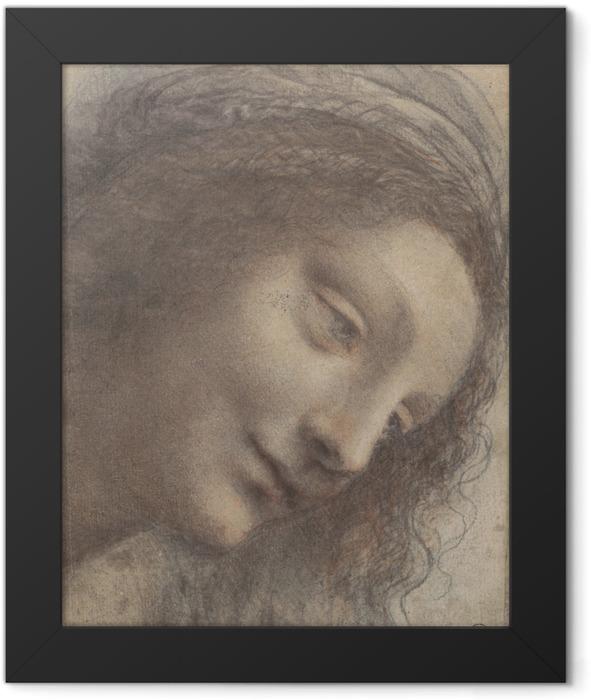 Leonardo da Vinci - Head of a woman Framed Poster - Reproductions