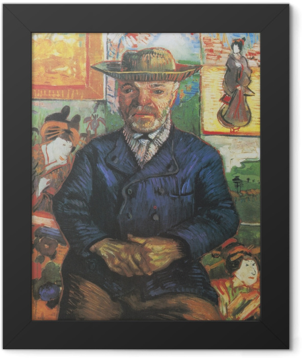 Gerahmtes Poster Vincent van Gogh - Bildnis Père Tanguy - Reproductions
