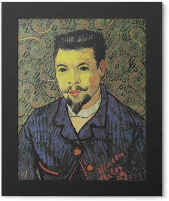 Poster en cadre Vincent van Gogh - Portrait du docteur Rey - Reproductions