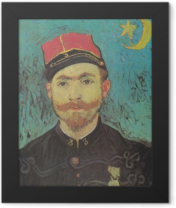 Gerahmtes Poster Vincent van Gogh - Porträt von Milliet - Reproductions