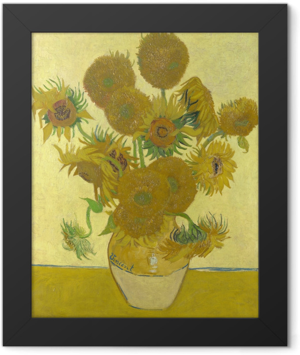 Plakat w ramie Vincent van Gogh - Słoneczniki - Reproductions