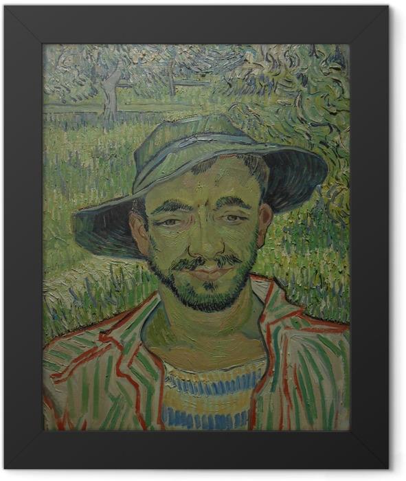 Gerahmtes Poster Vincent van Gogh - Der Gärtner - Reproductions