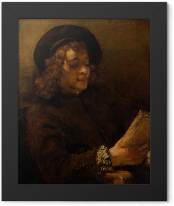 Gerahmtes Poster Rembrandt - Porträt des Titus, lesend - Reproduktion