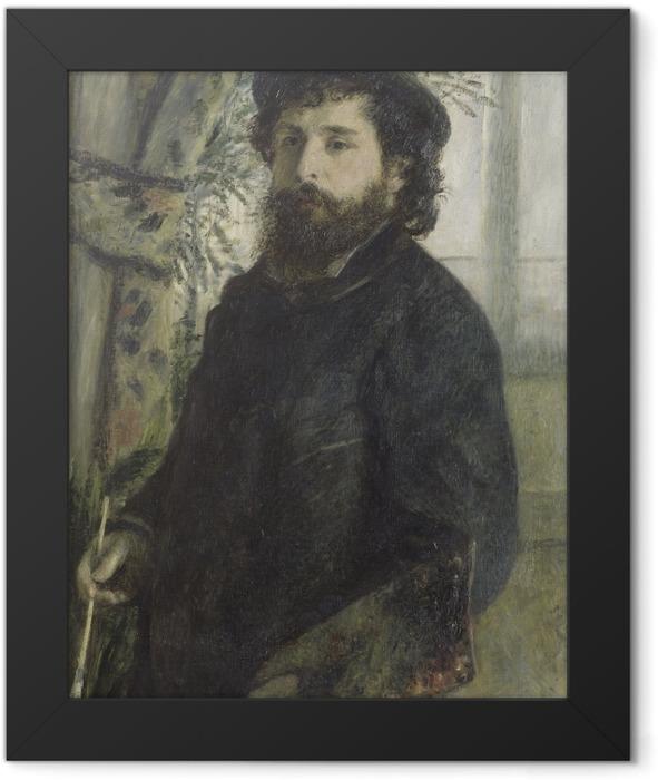 Gerahmtes Poster Auguste Renoir - Porträt des Malers Claude Monet - Reproductions