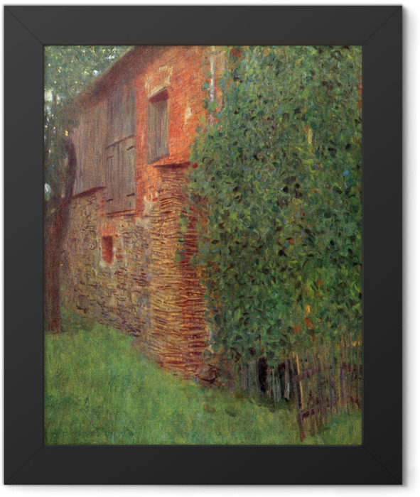 Gerahmtes Poster Gustav Klimt - Bauernhaus in Kammer am Attersee (Mühle) - Reproduktion