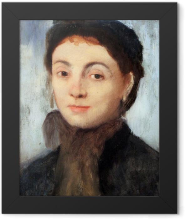 Gerahmtes Poster Edgar Degas - Porträt der Josephine Gaujelin - Reproduktion
