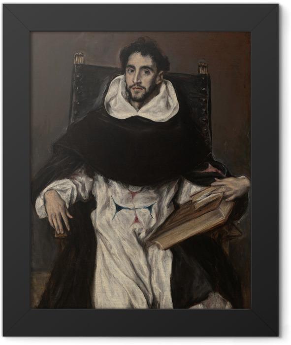 Gerahmtes Poster El Greco - Porträt des Fray Hortensio Félix Paravicino - Reproduktion