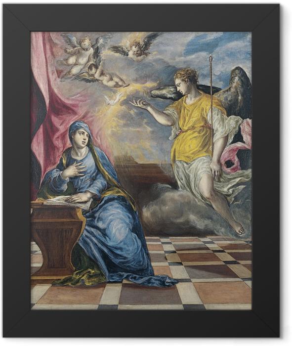 Gerahmtes Poster El Greco - Die Verkündigung - Reproduktion