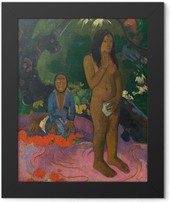Poster en cadre Paul Gauguin - Mahna no varua ino (Le diable parle) - Reproductions