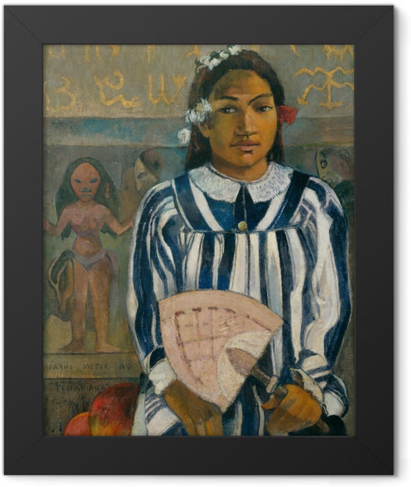 Gerahmtes Poster Paul Gauguin - Merahi metua no Tehamana (Tehamana hat viele Vorfahren) - Reproduktion