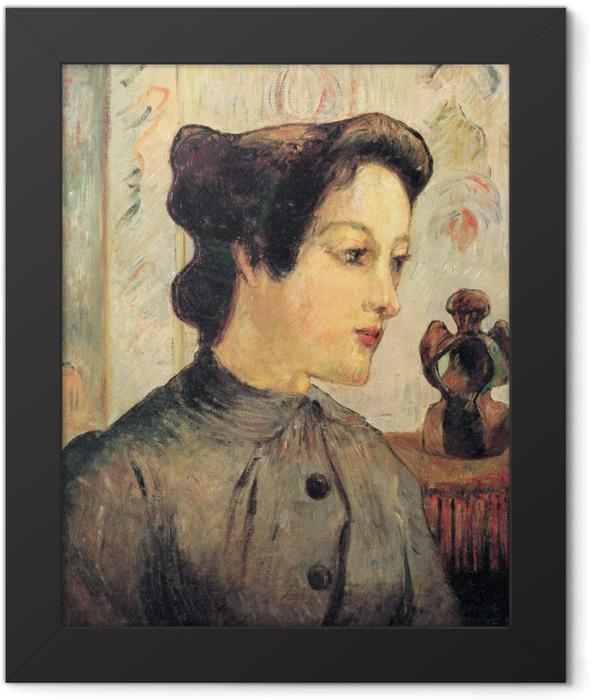 Gerahmtes Poster Paul Gauguin - Porträt einer jungen Frau - Reproduktion