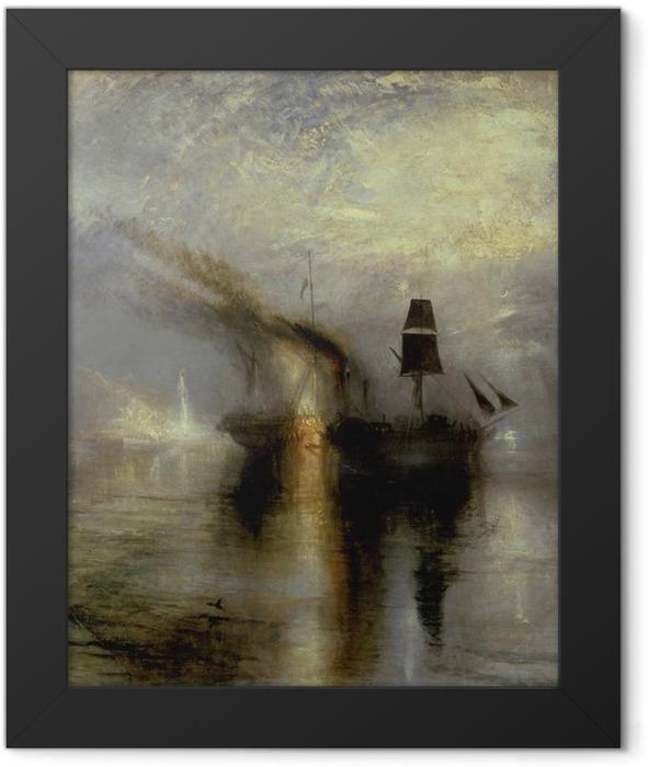 Poster en cadre William Turner - Paix - Funérailles en mer - Reproductions