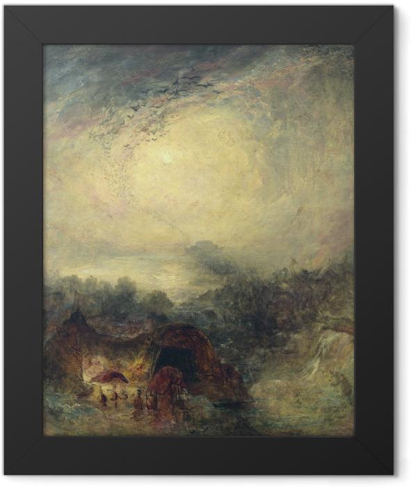Gerahmtes Poster William Turner - Der Abend der Sintflut - Reproduktion
