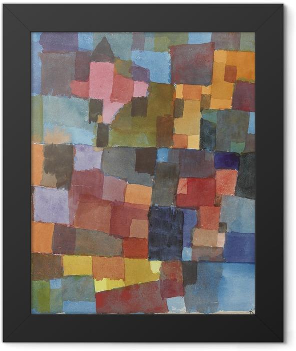 Gerahmtes Poster Paul Klee - Raumarchitekturen (Auf Kalt-Warm) - Reproduktion