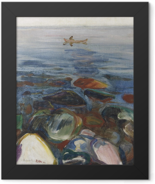 Poster en cadre Edvard Munch - Bateau à la mer - Reproductions