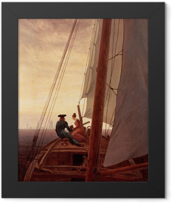 Poster en cadre Caspar David Friedrich - Sur un bateau à voile - Reproductions
