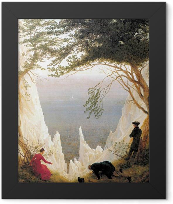 Plakat w ramie Caspar David Friedrich - Skały kredowe na Rugii - Reproductions
