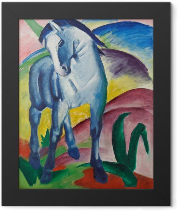 Gerahmtes Poster Franz Marc - Der Turm der blauen Pferde - Reproductions