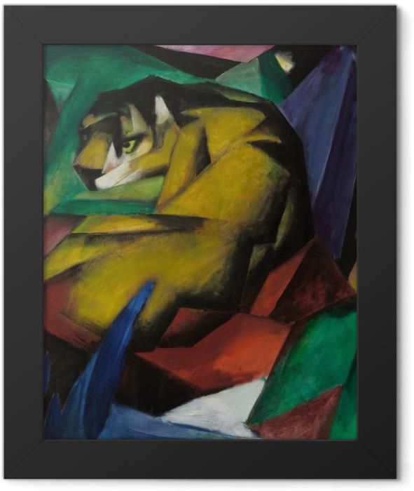 Poster en cadre Franz Marc - Le tigre - Reproductions