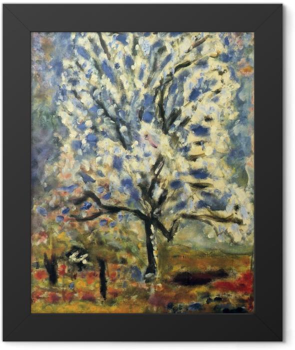 Plakat w ramie Pierre Bonnard - Kwitnące drzewko migdałowe - Reproductions