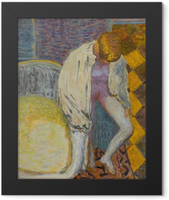 Plakat w ramie Pierre Bonnard - Wychodząca z wanny - Reproductions