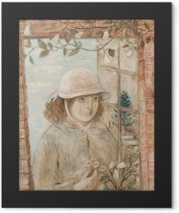 Gerahmtes Poster Tadeusz Makowski - Fenster in Blumen - Reproductions