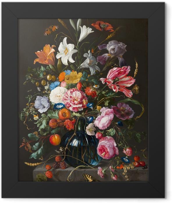 Gerahmtes Poster Jan Davidsz - Vase of Flowers - Reproduktion