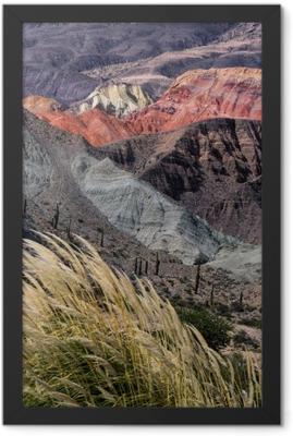 Montañas en Salta, Argentina Framed Poster