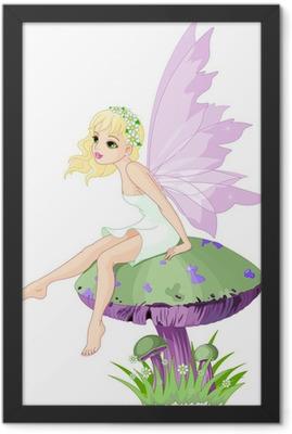 Fairy on the Mushroom Framed Poster