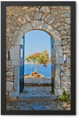 Gate in Palamidi fortress, Nafplio, Greece Framed Poster