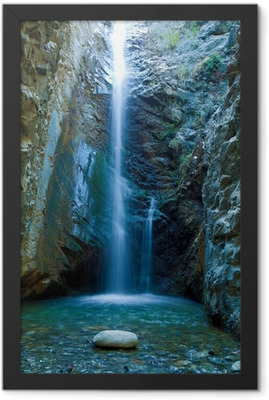 Chantara Waterfalls in Trodos mountains, Cyprus Framed Poster