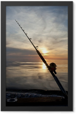 big game fishing Framed Poster