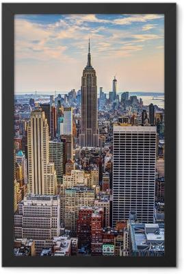 New York City at Dusk Framed Poster