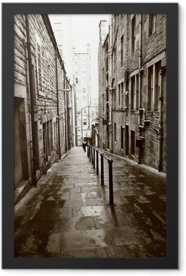 Old streets of Edinburgh Framed Poster