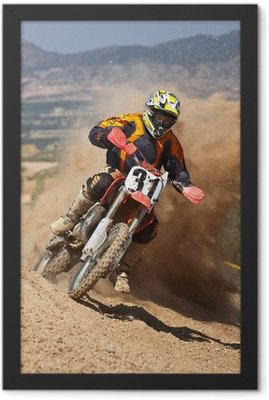 motocross dust Framed Poster