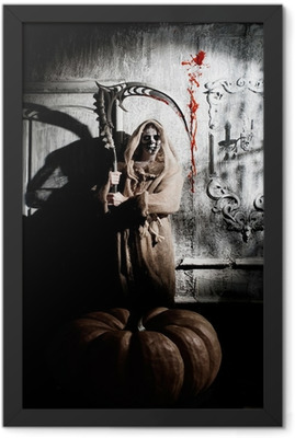 Scary death Framed Poster