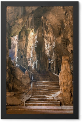 Khao Luang cave in Phetchaburi, Thailand Framed Poster